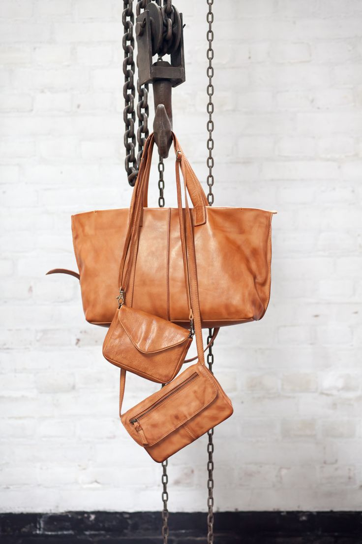 Leather bags!  tough  leather  cognac  bags  collection2015  bybar   7ec416c7dd82f