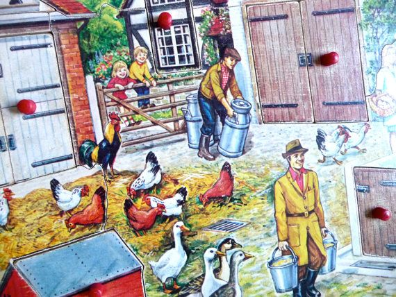 Farmyard Wood Puzzle Childrens Picture Puzzle