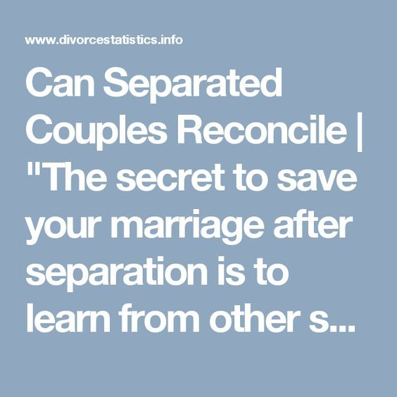 How to reconcile with separated wife