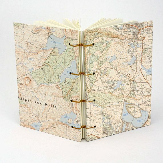 Dunbartonshire Journal Reclaimed Map Notebook Travel