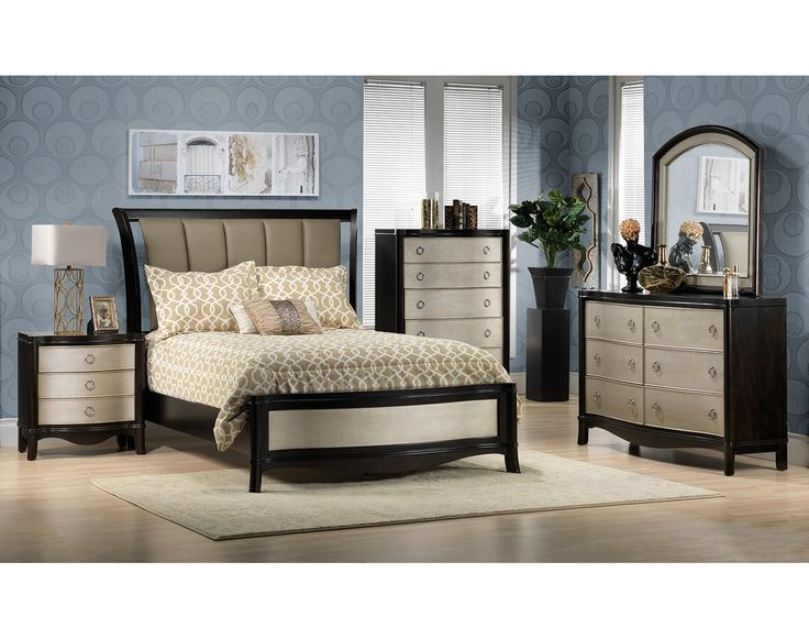 Bedroom Furniture The Glamour Collection Glamour Queen Bed