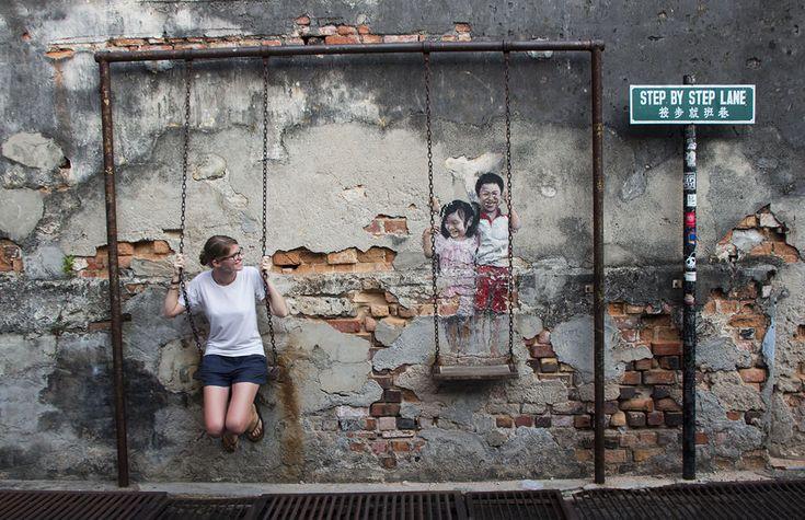 Georgetown ist ein Zentrum für Street-Art in Südostasien geworden. Entdecke mit diesem Stadtrundgang über 20 großartige Motive in Penang.