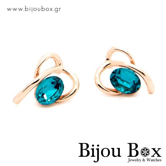 Earrings rose gold plated PACIF Σκουλαρίκια ρόζ επίχρυσα PACIF Check out now... www.bijoubox.gr #BijouBox #Earrings #Σκουλαρίκια #Handmade #Χειροποίητο #Greece #Ελλάδα #Greek #Κοσμήματα #MadeinGreece #RedGold #jwlr #Jewelry #Fashion