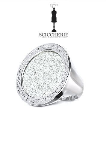 Anello Rebecca Gioielli collezione Half Moon in bronzo bagno oro bianco e glam film. #rings #sciccherie #jewels