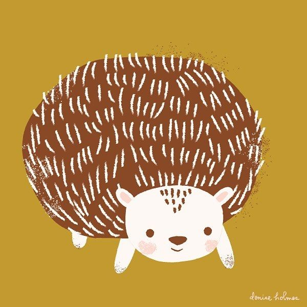 Day 18/100! The hedgehog, the internets 2nd favorite animal! Happy Friday friends! #the100dayproject #100daysofdrawing