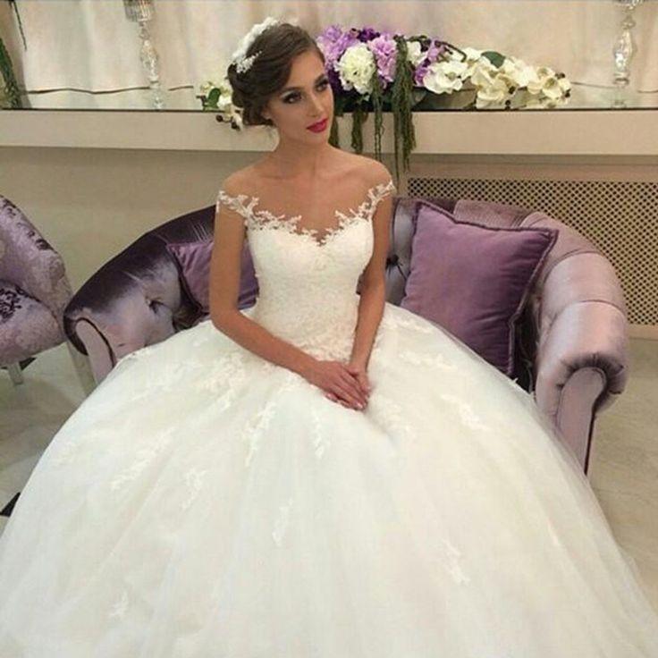 ZW045 Off the Shoulder Wedding Dresses Lace 2017 Wedding Ball Gown Plus Size Robe de Mariage Vintage Wedding Dress Cheap