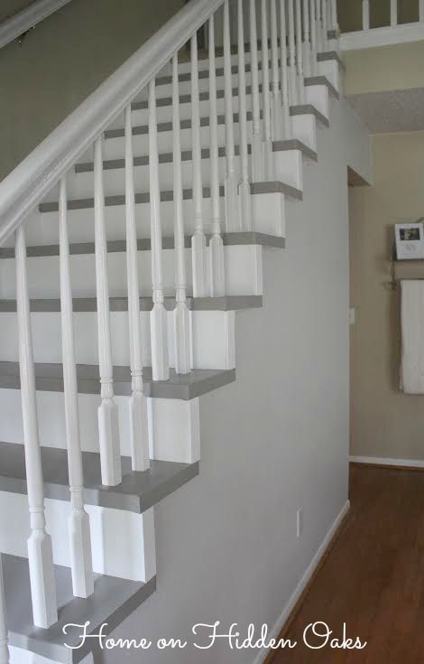 Beautiful Budget Staircase Remodel ! Step by Step photo tutorial !