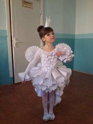 Платье из бумаги !Одноклассники