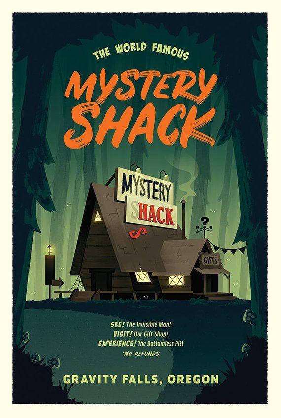 mystery shack travel poster print