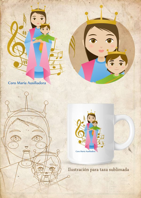 Ilustración / diseño para taza