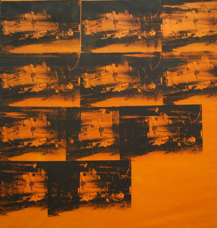 "orange disaster 5 andy warhol ""E' incredibile come quanta gente appende nella propria camera da letto un quadro raffigurante un incidente, soprattutto quando riprende i colori della tappezzeria.""1963"