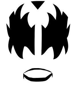 Kiss Rock Band Makeup - Gene Simmons Makeup Stenci...