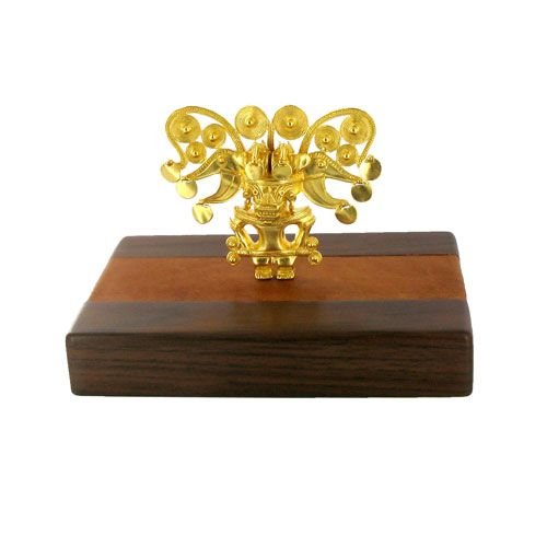 A replica of one of the most remarkable and well-known examples of pre-Colombian gold.