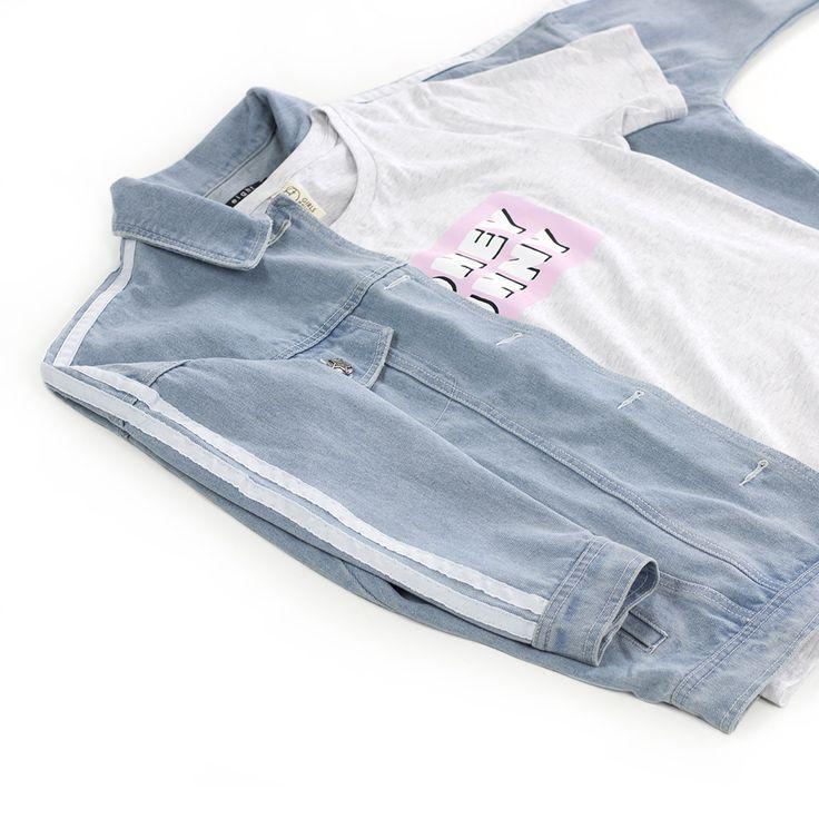 We love denim! #fashion #denim #gutsgusto #store #stripes