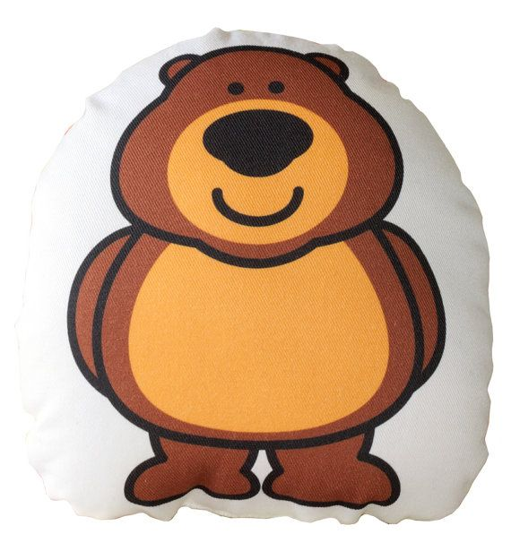 Brown Bear Cusion, Pillow, Soft Toy for Children  www.bobomoo.com