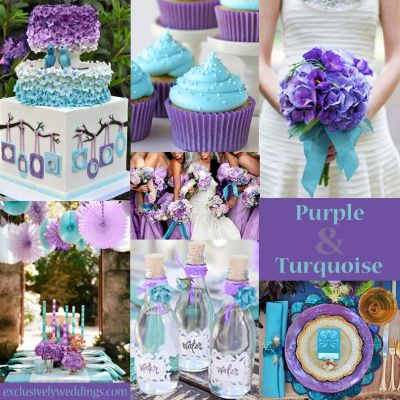 Turquoise and Purple Wedding Colors  LOVE LOVE LOVE This color combo <3 seriously considering doing this!