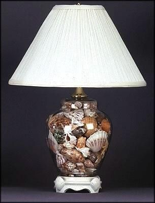 shells in a clear lamp-had one of these when I was growing up. neatest thing.