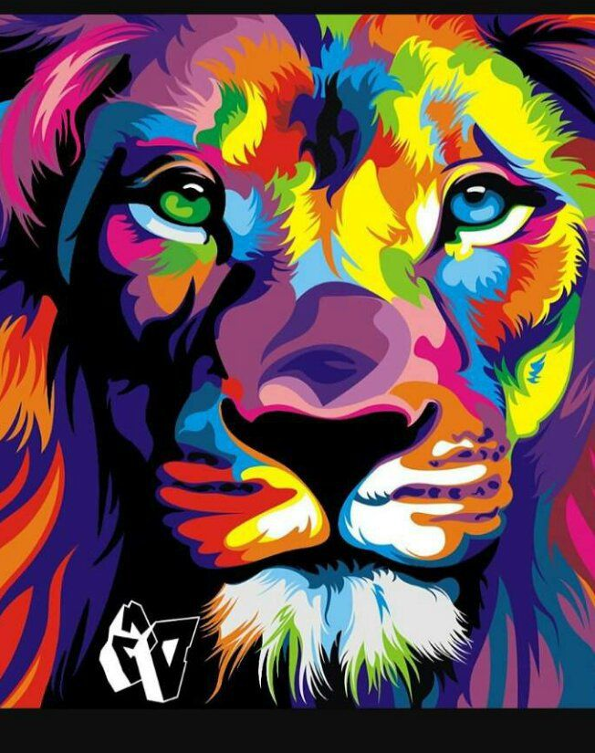 Pin On Whymultiplesclerosispickme Colourful lion wallpaper hd