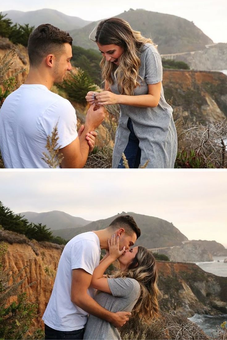 This marriage proposal at Big Sur is unbelievably gorgeous! She was so surprised when he got down on one knee, and it's adorable.