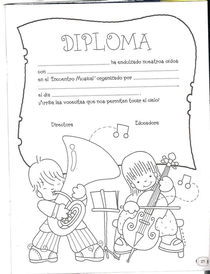 Menta Más Chocolate - RECURSOS y ACTIVIDADES PARA EDUCACIÓN INFANTIL: Diploma MÚSICA