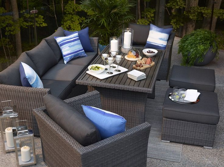 Allen Roth Prescott 6 Piece Wicker Conversation Set At Lowe S Canada Find Our Selection Of Outdoor Sets The Lowest Price Gu