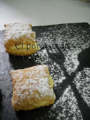 Pasteles de hojaldre: Desserts, Desserts Recipes, Cakes, Of Hojaldr, Con Hojaldre, Postres Espanoles, Pastel De, Some, Spanish Cuisine