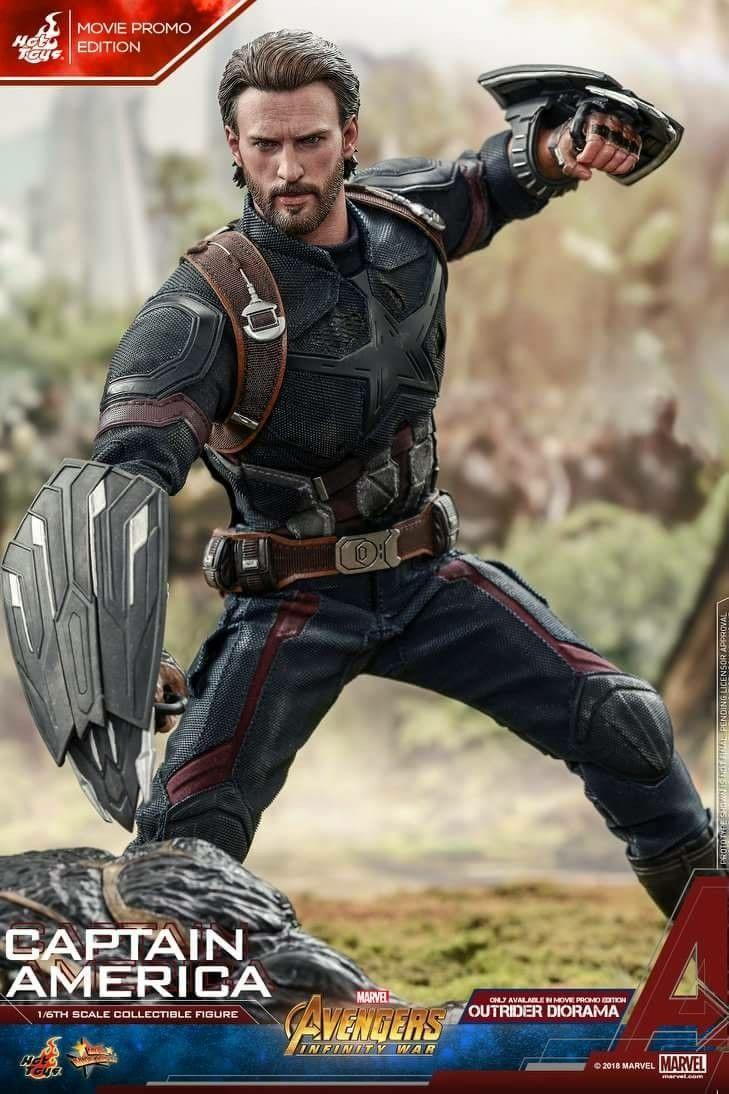 Infinity War Captain America Chris Evans 1//6 Figure HOT TOYS MMS480 Avengers 3
