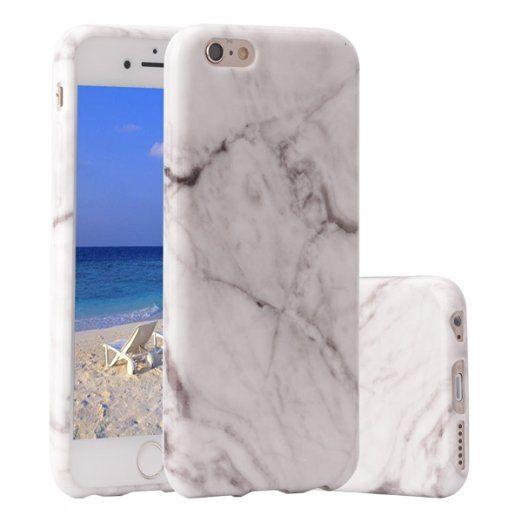 Custodia iPhone 6s,ZXK CO Custodia in Silicone Morbida iPhone 6 / 6s Shock-Absorption Anti-Graffio Design Marmo Stilosa Bumper Case Gomma Flessibile Sottile Fina Protettiva Shell-Grigio