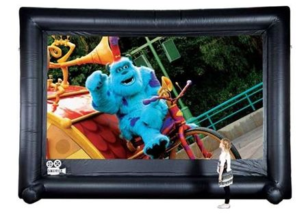 "Outdoor+Home+Theatre+Pack+with+HD+DVD+Projector+and+200""+Screen"