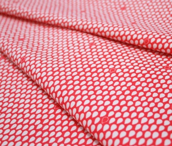 Umbrella Prints / Raindrops in Kimono Red