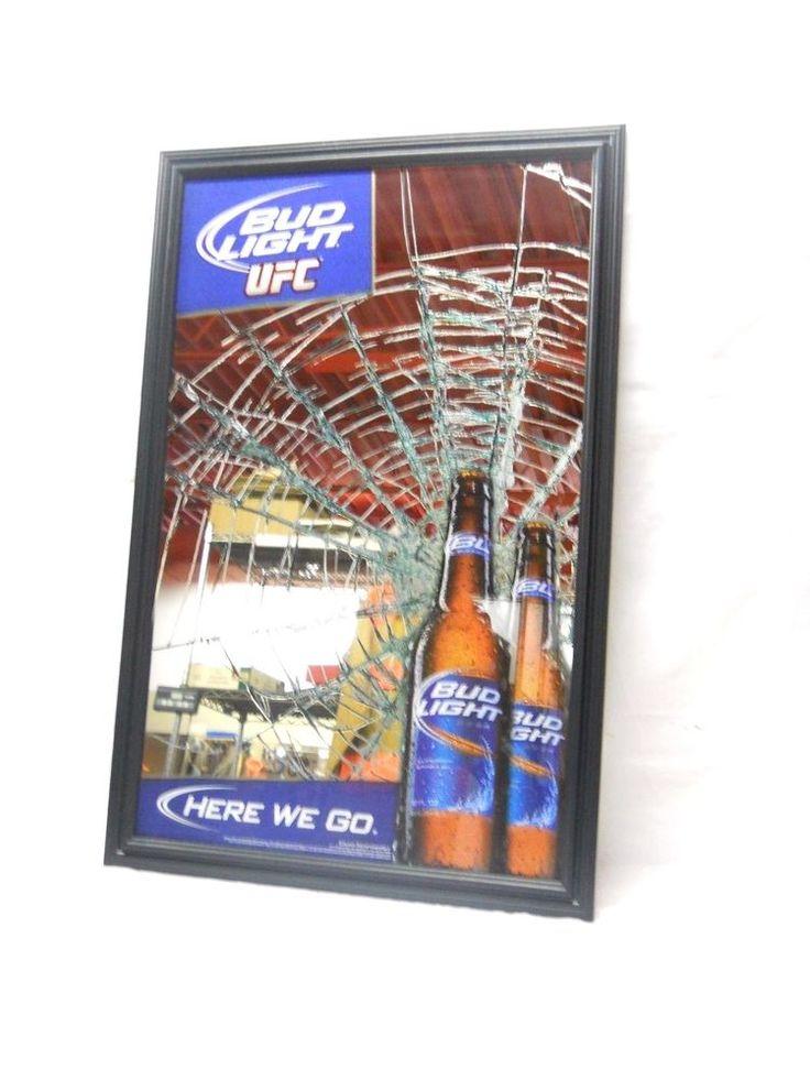 Man Cave Prices : Bud light ufc here we go bar mirror man cave octagon ebay