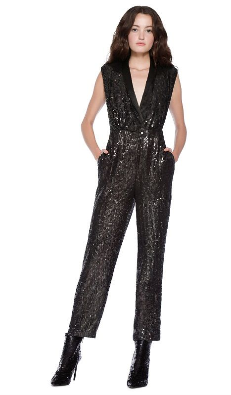 0fe462ed5360 Black Sequin Jumpsuits for Women – Total Studio 54 vibes in this black  sequin-embellished jumpsuit for women.  JumpsuitsWomen  SequinJumpsuitWomen  ...