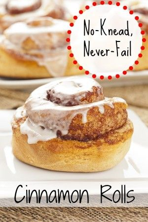 No Knead, Never Fail Cinnamon Rolls (or Dinner Rolls). Made-from-scratch dough, delicious buttery goodness!