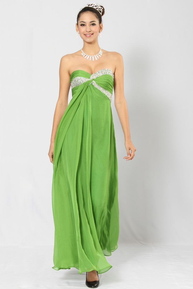 The 25 best ankle length bridesmaids gowns ideas on pinterest lime green ankle length sweetheart chiffon a line prom dress with sequined ombrellifo Gallery