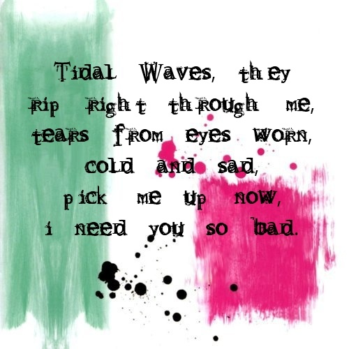 Down-Blink 182 probably my favorite lyrics...