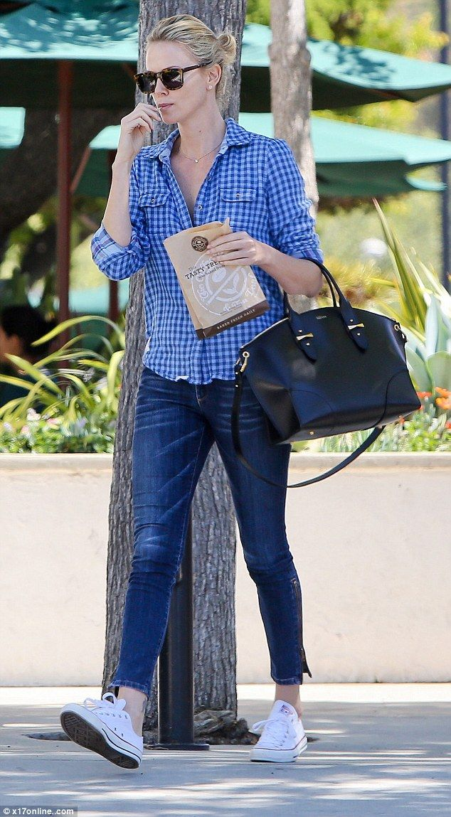 Quality time alone together: Charlize Theron was spotted enjoying an afternoon out with he...