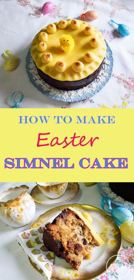 How to make a delicious traditional Easter Simnel Cake for your Easter tea time table. Fruit cake with marzipan backed inside. Then topping the cake with a round of marzipan and decorate with eleven balls of marzipan. Z