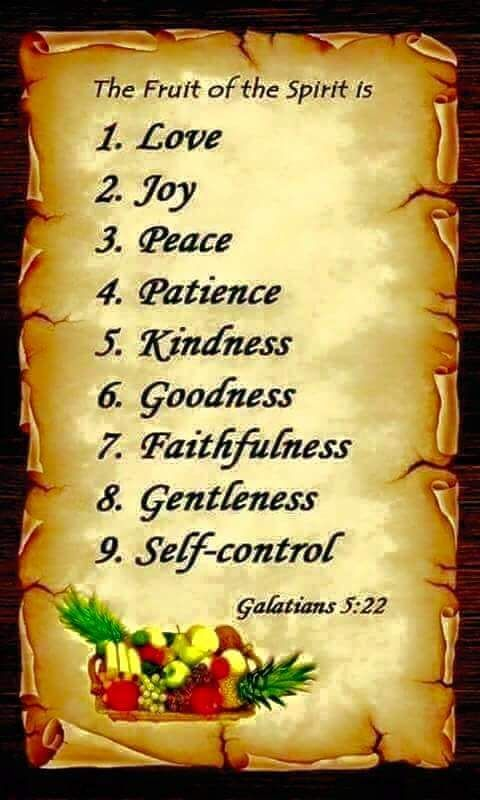 Galatians 5:22, 23 On the other hand, the fruitage of the spirit is love, joy, peace, patience, kindness, goodness, faith, mildness, self-control༺♥༻ READ GOD'S WORD THE HOLY BIBLE DAILY ༺♥༻ JW.org has the Bible and bible based study aids to read, watch, listen and download in 800+ languages, ASL included. These aids are designed to be used with your bible.  All of these are at no charge ༺♥༻