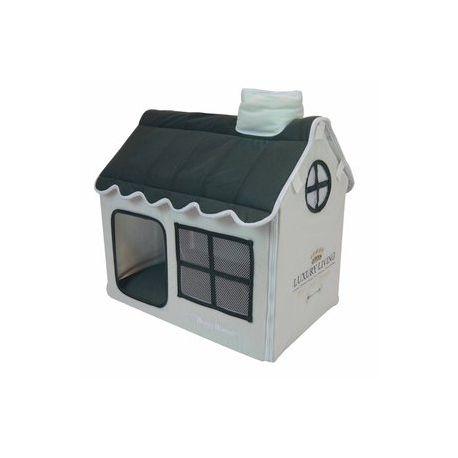 CASA LUXURY LIVING GRIS, Es una cuna cómoda y acogedora, perfecta para perro pequeño o mediano y gato ,con un diseño ideal para cualquier sitio de la casa.Medida:  52 x 36 x 49 cm. http://bit.ly/1KW991x