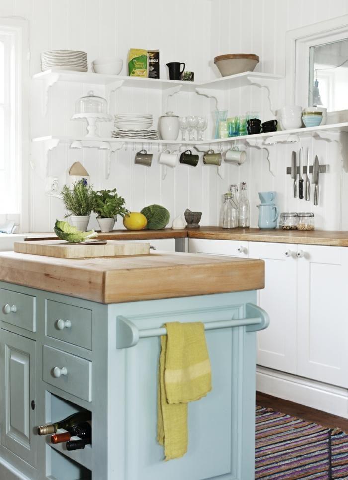 Kleine weiße Küchen, Muster von Leuchtkraft und Stil | Küche | Pinterest