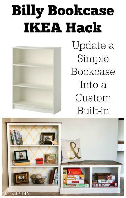 billy bookcase ikea hack update a simple bookcase into a. Black Bedroom Furniture Sets. Home Design Ideas