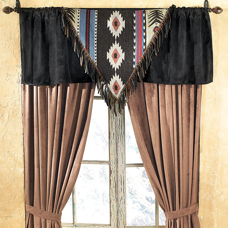greenite curtains ranch s decor southwestern sierra red window drapery
