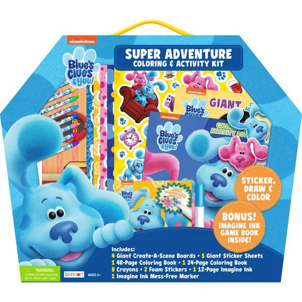 Blue S Clues Super Adventure Set Walmart Com Super Adventure Crayon Book Blues Clues Characters