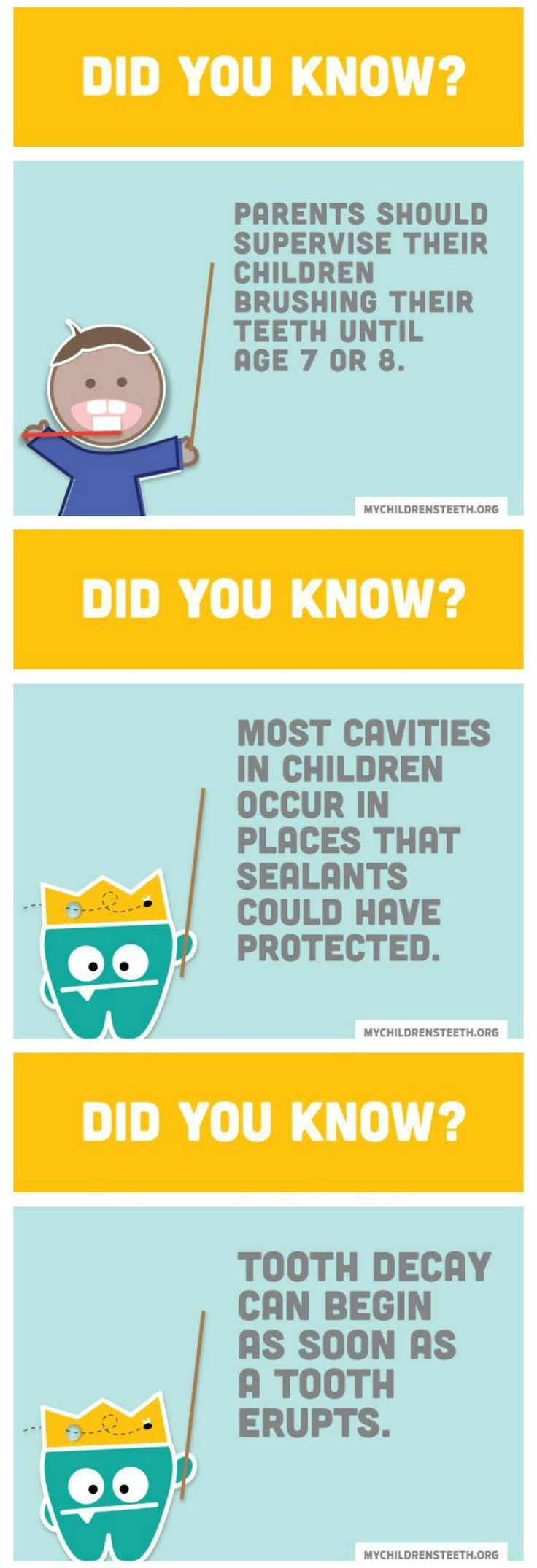 Facts about childrens dental health and how kids can avoid tooth decay from the The American Academy of Pediatric Dentistry.
