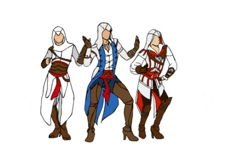 All the Single Assassins, All the Single Assassins. Assassin's Creed meets Beyoncé.