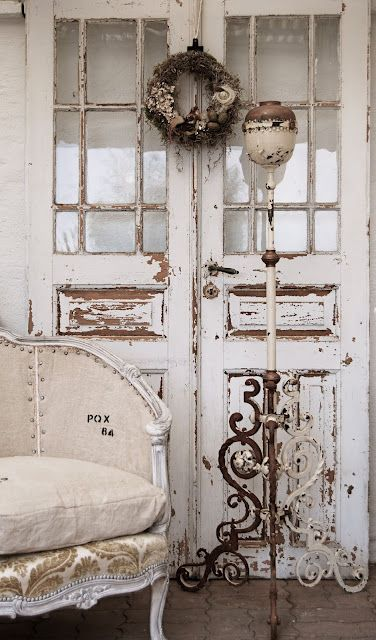 .: The Doors, Idea, Shabby Chic, White, French Country, Old Doors, Shabbychic