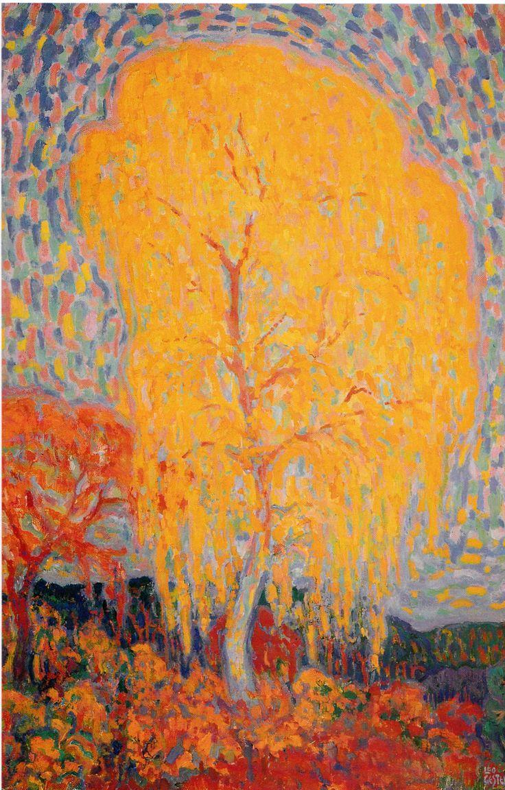 """leo gestel-""""herfstboom"""", 1910"""