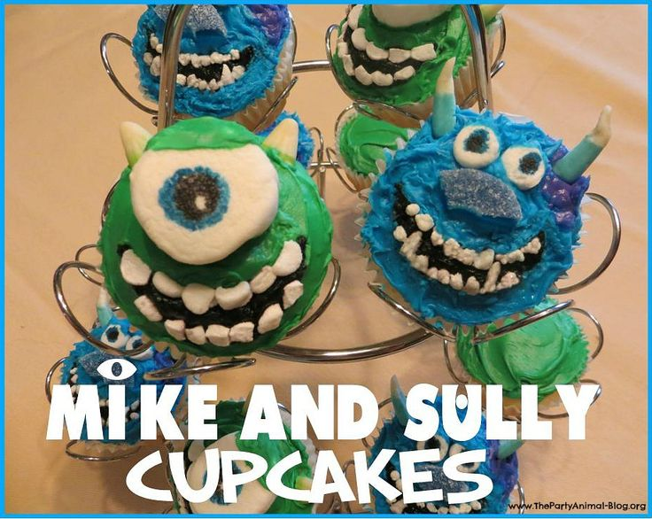 how to make a cupcake  step by step tutorial | out this step by step tutorial on How to Make Mike and Sully Cupcakes ...