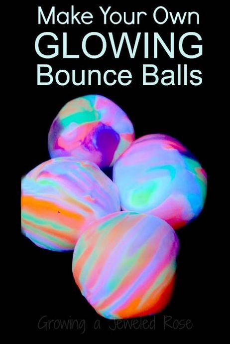 SO COOL: Homemade {Rainbow} Glowing Bouncy Balls This would be something really fun to do with the older ones in the center. kids crafts, kids crafts diy #diy