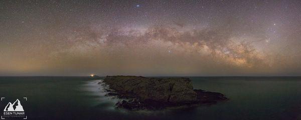 Панорама Млечного Пути. млечный путь, deep space